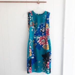 New Calvin Klein Floral Sheath Dress